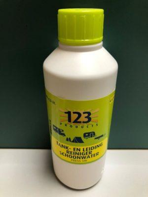 123 tank en leiding reiniger schoonwater
