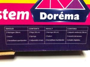 stromafspansysteem geschikt voor Dorema voortenten en luifels